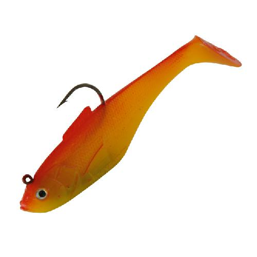 """Sidewinder SUPER SOLID Shads 4/"""" Ghost White Fishing Lure"""