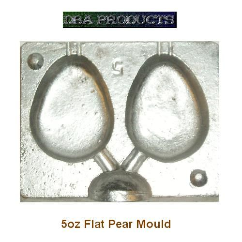 Flat pear fishing weight mould new